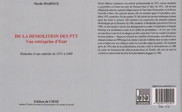 De la démolition des PTT Une entreprise d'Etat...
